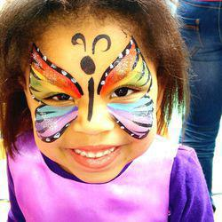 Butterfly Face Painting - Face painting and Balloon sculpting services for kids for birthdays and all occasions