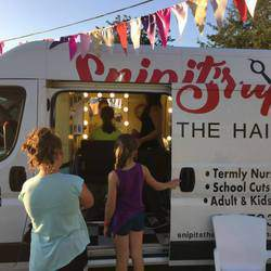 Snipit's Hair Truck - Mobile hair truck service. Kids hair cuts at nursery schools, aftercare, schools & pamper parties