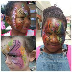 Imagine Nation - Face and body painting - Face and body painting art pretty fun glitter sparkels imagine nation imagination