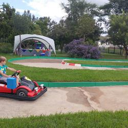 Mini Trac Karting - Electric go-karting - pop in and ride or book your birthday Party. Full themed parties available.