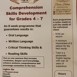 Lights On - Comprehension Skills Development program - an 8 week program to improve critical thinking skills, reading skills, oral language, writing skills, improve English results