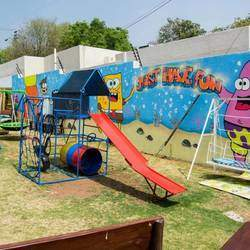 Aj's in the Park - Family restaurant, party venue with kids playground, wood-fired pizzas, jumping castle, childminders, a piano, big screen for live games