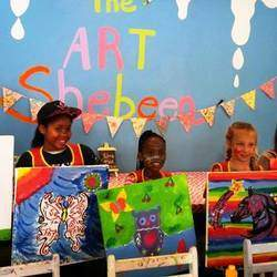 The Art Shebeen - Drop off the kids, bring a friend or spend some therapeutic time alone while you let your creativity loose with canvas, paint, ceramic, wood or bling up with thinestone. Great for parties too.