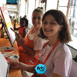 Arti Parti - Paint, dance, pose for your next birthday. Host a Paint Parti and bring out your inner artist and popstar while creating your very own masterpiece.