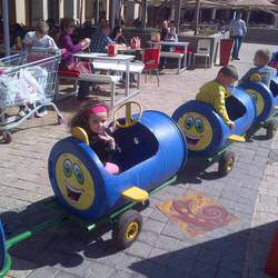 Blue Barrel Train - Blue barrel train ride hire for kids parties & events, kids party ride hire
