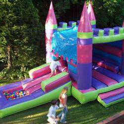 Bouncy Adventures - We offer a wide range of jumping castles and water slides for all ages including pirate ships, gladiators, wresting rings, standard castles, ball ponds, 3 in 1 castles, fairy castles, princess castes, water slides and pool wedges