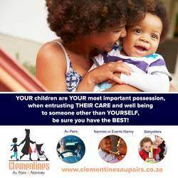 Clementines Aupairs and Nanny Agency - An established, trusted Au Pair and Nanny Agency, dedicated to providing an efficient yet personalised Au Pair & Nanny Services for bot