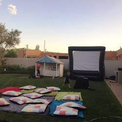 Cosmic Screening and Advertising - Drive-In style cinema, movies under the stars