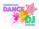 Superstars Dance, DJ & Craft Parties - Dance Music Parties, and tween disco parties at your house or at party venue in Bryanston