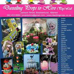 Dazzling Props to Hire - Themed decor hire for kids parties, boys & girls. Racing, tyre traffic light, cupcakes,  fairy logs, mushroom gazebo,  maze forest