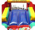 Dino mite Jumpers - Jumping castles, kids table & chairs, function & party hire incl. function chairs, tables, cutlery & crockery