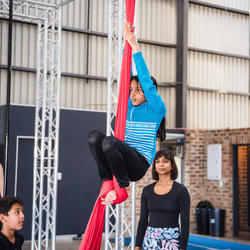 MiniCirk - Circus based class for children. These are acrobatics, handstand training, and flexibility, aerial and theatrical art.