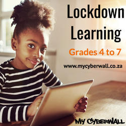 My Cyberwall (www.mycyberwall.co.za) - An online e-learning solution for Grades 4-7 aligned to the Curriculum. Use by schools throughout South Africa as well as at home by families for homeschooling.