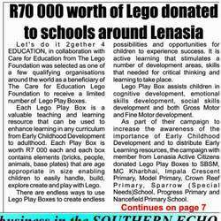 Lets do it 2gether 4 Education  - Free Math tuition to learners in grades 8; 9; 10; 11 and 12. Areas that we operate in Lenasia and Mayfair