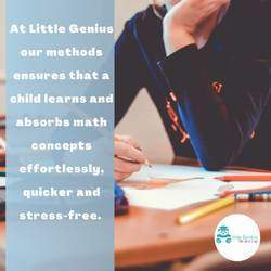 Little Genius Abacus  - a universally accepted brain development program, which activates both left and right hemispheres of the brain. The program offers a great and fun way of learning the abacus and mental arithmetic math from a young age.
