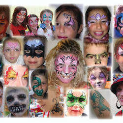 Giggle Box Clowns - Party entertainers including face painting, balloon sculpting, glitter tattoos, stilt walking, magic show, party games, crafts, bunny petting and ore