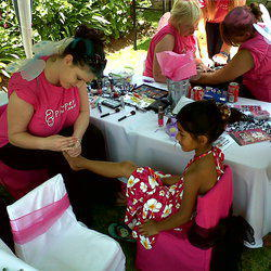 Pamper Girlz - Pamper and make over birthday parties for young ladies, including Party Hire i.e tables, chairs, table cloth, chair covers, tie backs & centre piece