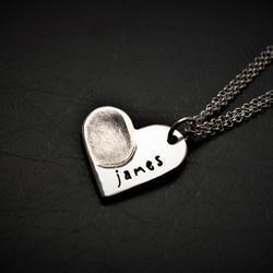 Little Finger Prints - Exquisite, hand-crafted personalised fingerprint, handprint and footprint and children's drawing on jewellery