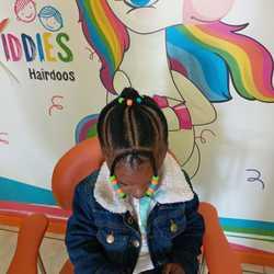 Kiddies Hairdoos  - Kids Hair Salon, Fun, Relaxed Learning environment, Natural Hair, Natural Hair Treatment, Plaiting, Braiding, Needle Cornrows