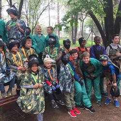 Woods Paintball Range Riversands - Low impact paintball for children. Kids paintball without the pain.