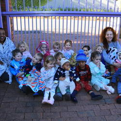 The Blue Playschool - Registered (since 2003) playgroup for 15 children aged from 2 to 3 years at a private residence in Parkview.