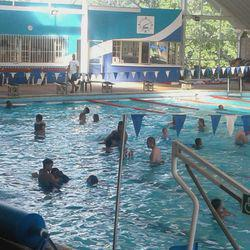 Linden indoor heated Public Swimming Pool - Public swimming pool offering swimming lessons, aqua aerobics, & baby pool. The indoor pool is for swimming all year round!