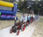 Spaanyard Kids Party Venue - Kids farmyard party venue in the country with free pony rides, touch & feed farmyard, mini tractor rides, swing carousel, water slide & jumping castle