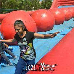 Jozi X - Jozi X adventure action centre with Jungle Swingz, Face Offz, tight rope, 9m high 4-sided climbing wall, Crazy Ladder, Stunt Matt, Nerf Zone, bubble soccer, Ninja warrior section, Trapeze and more.