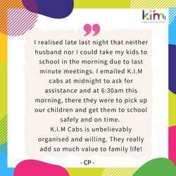 K.I.M (Kids In Motion) Cabs - Scholar transport, school transport services focused on The Parks and surrounding areas.