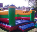 Wills Inflatables - 24 different jumping castles.gladiator,waterslide,funky chic,foosball,boxing ring,princess,