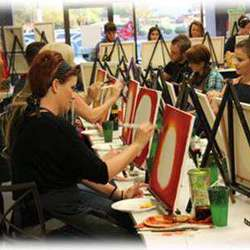 Paint it parties - Paint on Canvas Parties, and take your canvas home.