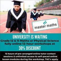 Master Maths & Science Parktown - Qualified maths tutors and science tutors offer individual maths tutoring for Gr 4-12 plus science tutoring for Gr 10-12