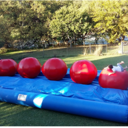 Crazy Inflatables - Jumping Castles, Water Slides, Water Bubble Balls, Rollers on Pool or Grass  Balls, Zorb Balls, Parachute Rockets, Wipe-out Inflatables,  From 2 yrs old