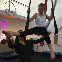 Sirkids - Circus based class for children. These are acrobatics, handstand training, and flexibility, aerial and theatrical art.