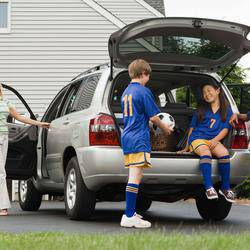 Soccermom - A  one-on-one children's transport service. We place a personal driver for you (plus vehicle) to personally transport your kids.