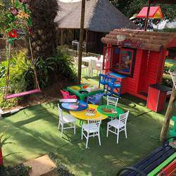 Under The Oak Tree - Kids outdoor & indoor party venue & family restaurant, kids parties with fun pony rides, jumping castle,  jungle gym, self catering buffet menu, games slides & more
