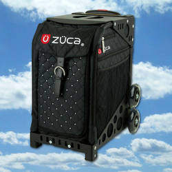 Zuca Bags - School bag on wheels you can sit on, ice skating bags, travel bags, makeup artist bags.