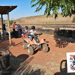 Zwartkops Quadbike Centre - An outdoor recreation area for kids where they can ride quadbikes on their own. Ideal for a family day out or to have a special party. Besides the quadbikes, there is a play area with a trampoline, play sand and jungle gym.
