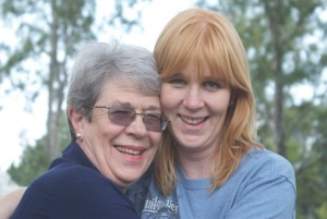 Kerry Haggard with mom