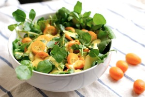Watercress, Bacon and Kumquat salad