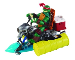TMNT Raphael rides the ooze cruiser.