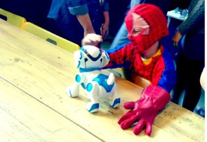 'Spiderman' befriends the Tekno Dog