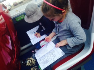 Blessed is the bus that supplies both colouring books and crayons!