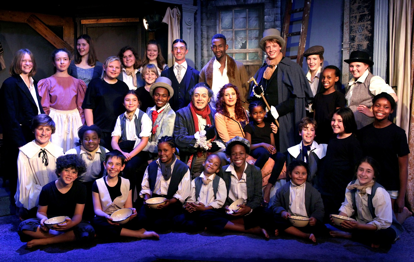 The full cast of Oliver Twist at the National Children's Theatre; source: NCT