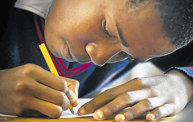 A student writing his Matric Exams. Picture Source: TimesLive.co.za