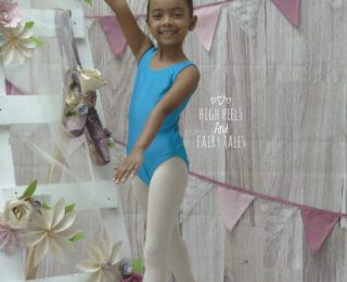 "Our little ballerina's first ""big girl"" exam"
