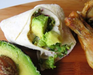 Lunchbox ideas: Chicken & Avo wraps