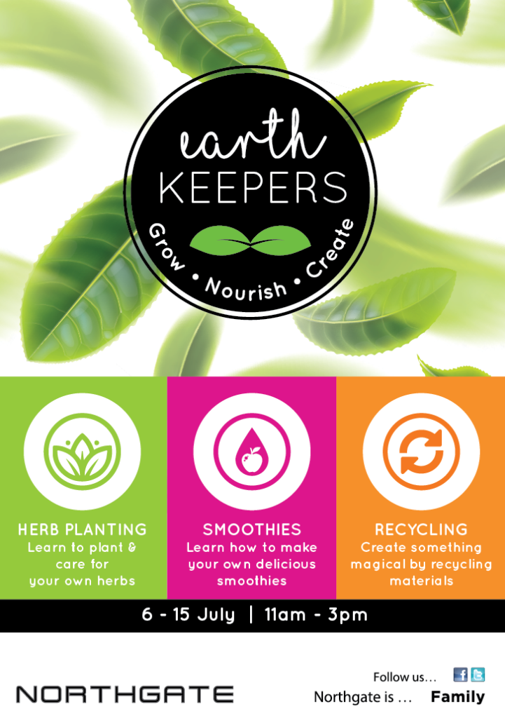Earth Keepers FREE holiday program at Northgate Shopping Centre