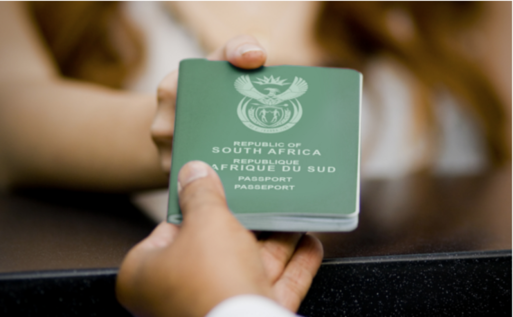 Childs passport in South Africa